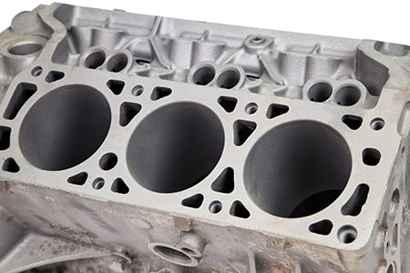 Part of Engine After Powder Coating